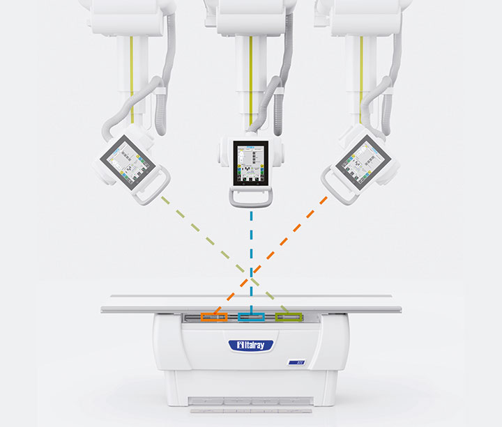 Auto traking of digital radiography systems by Italray