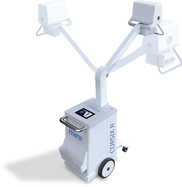 Analog x-ray mobile system and mobile c-arm unit